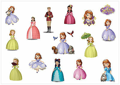 LABELS 45pcs SOFIA THE FIRST PRINCESS PERSONALISED NAME STICKERS TAG