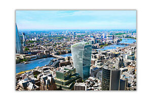 Iconic Shard in London With Pink Sky on Premium Glossy Poster Print Wall Art