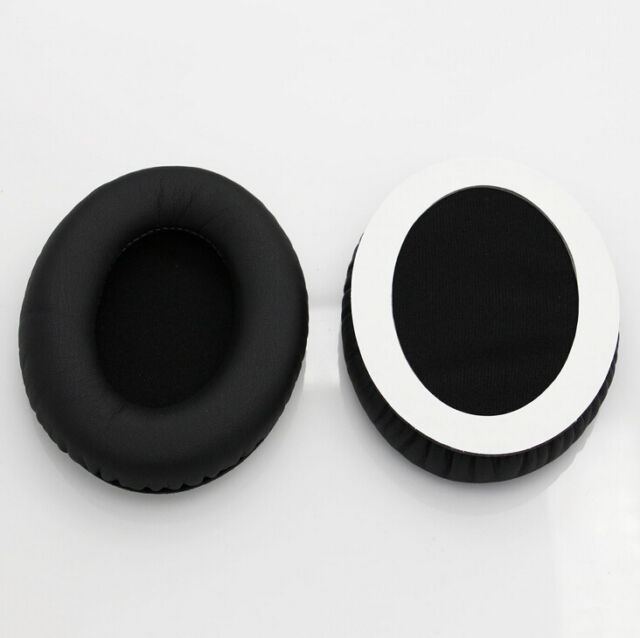 1 pair Cushion Ear Pads For Audio Technical ATH-ANC7 ATH-ANC9 Black Replacement