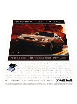 1997 Lexus ES300 ES Sedan Vintage Advertisement Car Print Ad J406