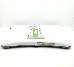 Nintendo Wii Balance Board RVL-021 With Risers & Wii Fit Plus Video Game Bundle