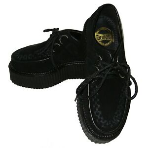 New-Pleaser-Demonia-Gothic-Punk-Black-Suede-Creepers-402S-Mens-Size-12-Womens-14