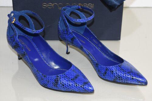 Décolleté Rossi Sergio Tacchi Pitone Reale Nuovo Esotici Blu FpqA4wnIx