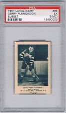 1952 Laval Dairy Subset Hockey Card Montreal Royals G Plamondon Graded PSA 5(MC)