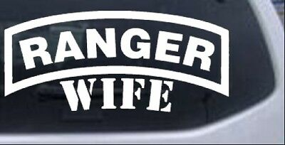 Army Ranger Wife Car or Truck Window Laptop Decal Sticker White 8X3.6