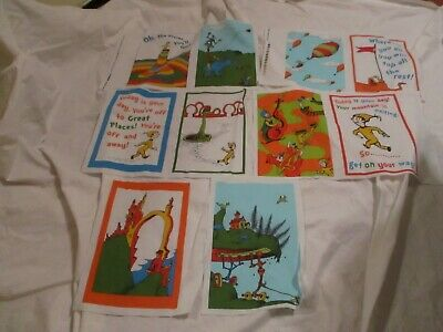 Dr Oh The Places You/'ll Go Kaufman TheFabricEdge Seuss Fabric 24 Inch Panel