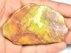 """Natural """"CARICO LAKE TURQUIOSE"""" 196.05CT Slab Drilled Untreated AGSL Certified"""