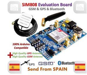 SIM808 módulo GSM GPRS GPS board de desarrollo con antena GPS GSM IPX SMA