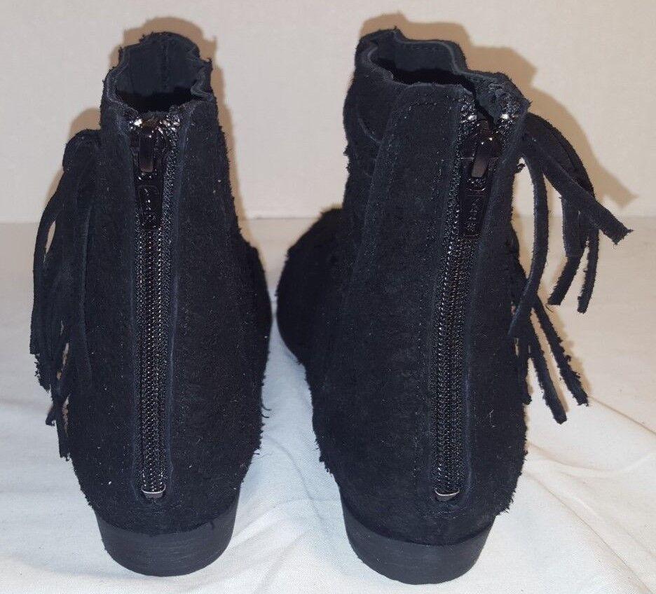 Nuevo FREE PEOPLE PEOPLE PEOPLE Negro décadas gamuza crudo botas al Tobillo US 8 EUR 38 f32921