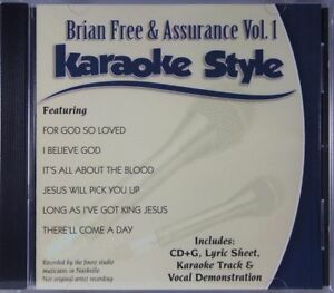 Brian-libre-amp-assurance-Volume-1-Christian-KARAOKE-Style-Nouveau-CD-G-daywind-6-chansons