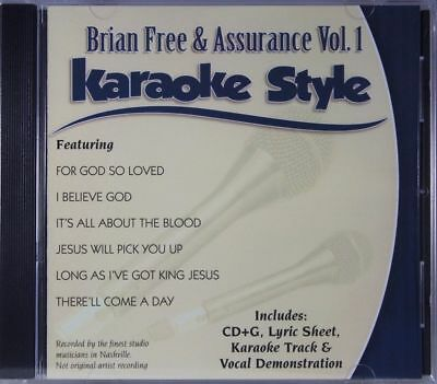 Musical Instruments & Gear Karaoke Cdgs, Dvds & Media Brian Free & Assurance Volume 1 Christian Karaoke Style New Cd+g Daywind 6 Songs