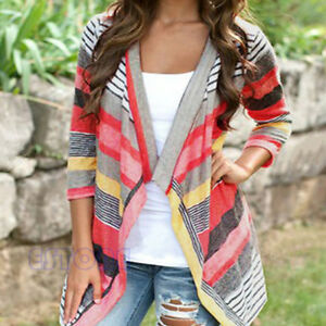 Boho-Womens-Cardigan-Loose-Sweater-Outwear-Knitted-Long-Sleeve-Jacket-Coat-Tops