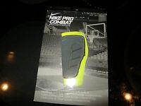 Mens / Womens Green & Gray Nike Pro Combat Hyperstrong Comp Shin Sleeve, Xl