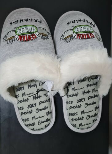 FRIENDS Central Perk TV show Ladies indoor comfy slippers supersoft UK size 4-7