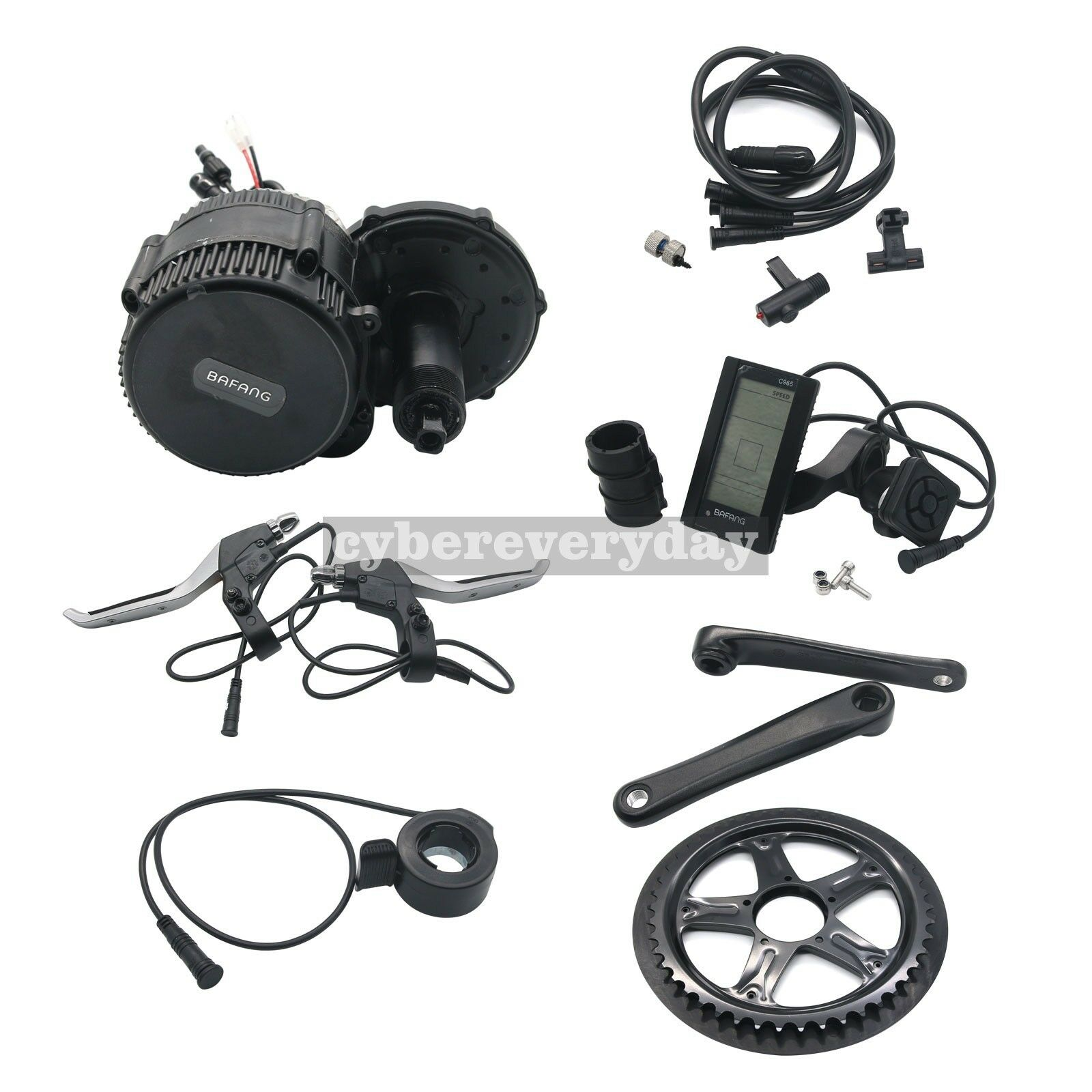 BAFANG BBS02 48V 750W Mid Drive Motor Conversion Kit C965 Electric Bike