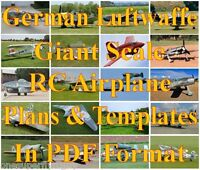 Wwii German Luftwaffe Giant Scale Rc Airplane Pdf Plans & Templates On Cd
