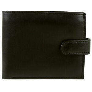 Mens-Brown-Top-Quality-Soft-Nappa-Leather-Tabbed-Wallet-by-Oakridge-Coin-Section