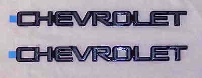 New Genuine GM NOS OEM Chevrolet Emblem CHROME w// Black Background