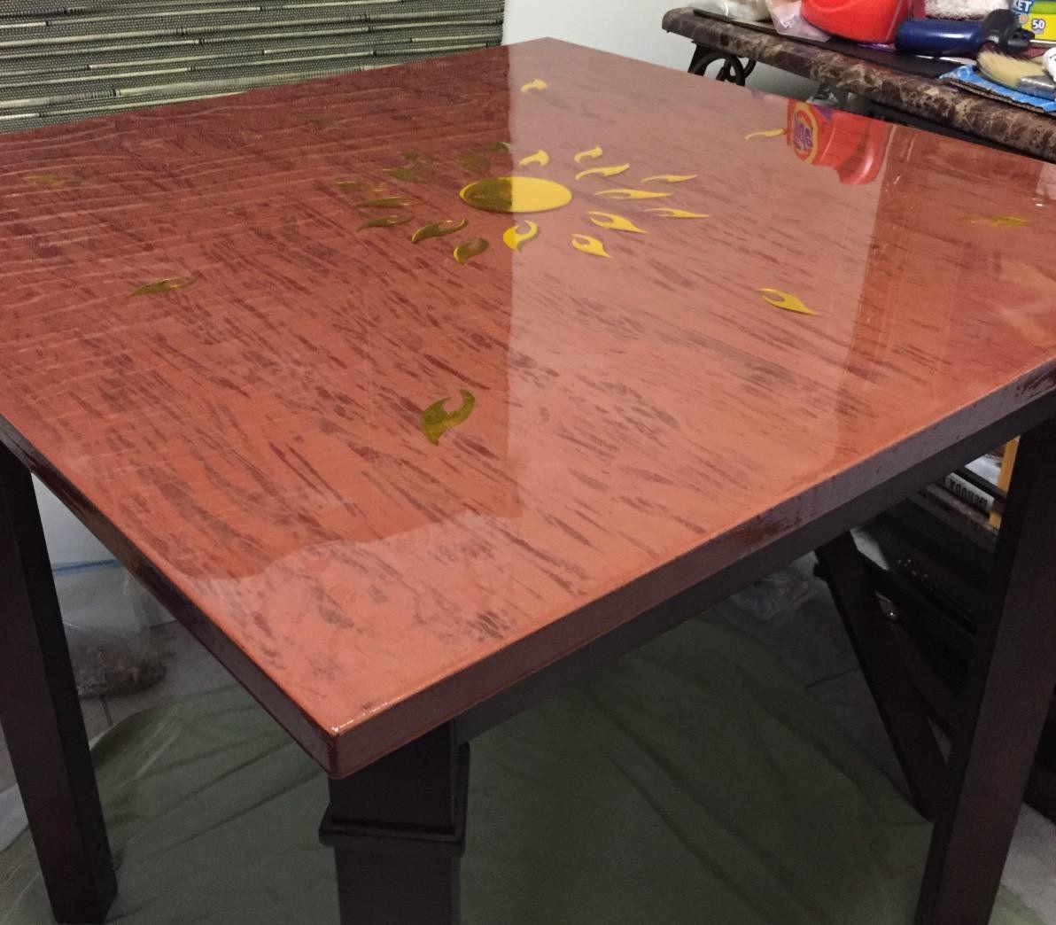 Kleer Kote Epoxy Resin Bar Table,counter top Coating Wood High-Gloss UV Resist H