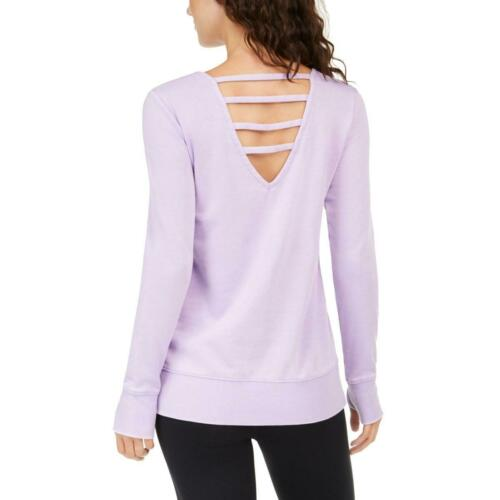 Ideology Womens Beautiful Athleisure Activewear Pullover Top Athletic BHFO 7868