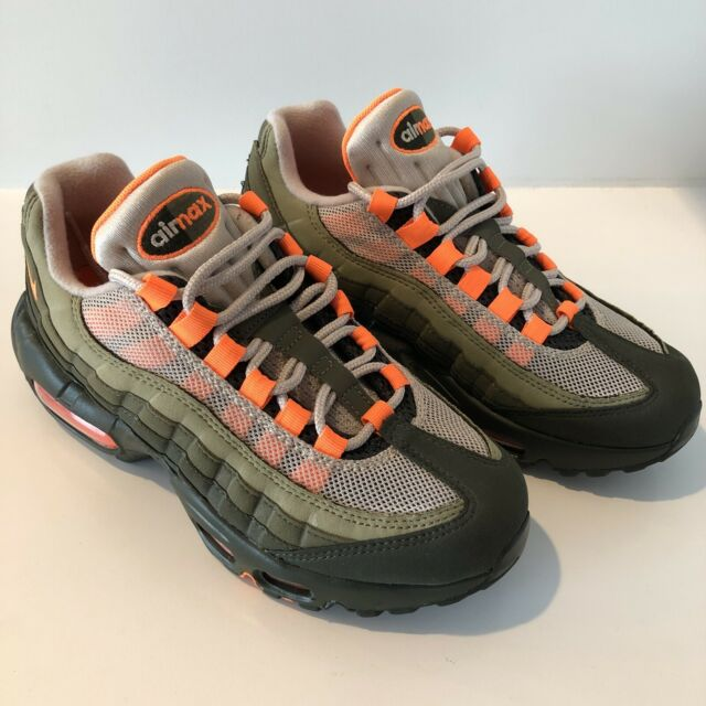 2018 Nike Air Max 95 OG String Olive Total Orange SNEAKERS Size 12 At2865 200