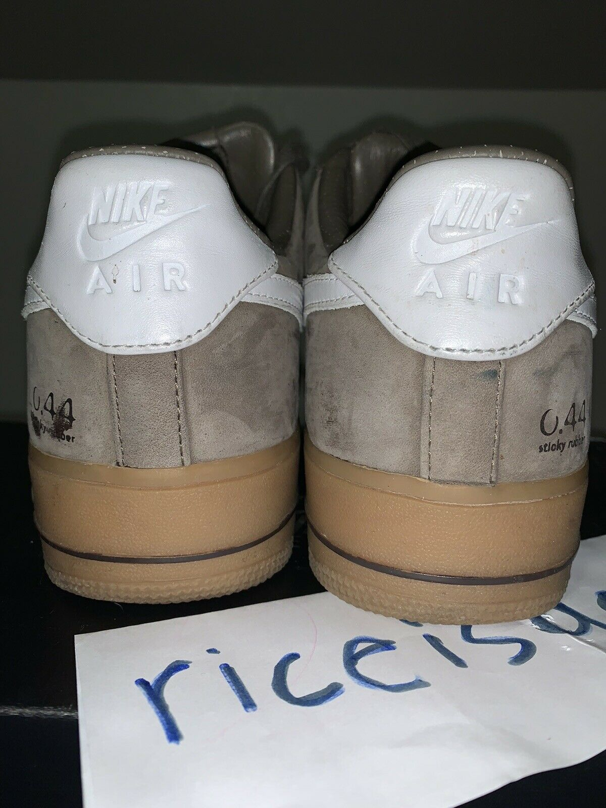 2008 Nike Air Force 1 Low Supreme WP SZ 9.5M Olive Khaki Wht Gum Brwn 333884 211