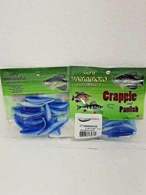 Gary Yamamoto Crappie Panfish 2 Inch Minnow Shad Soft Plastic Bait C105 15 Pack
