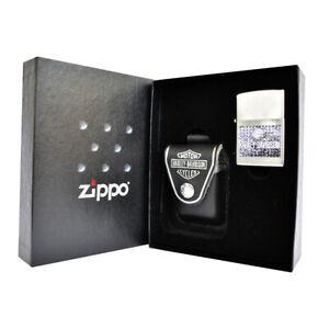 Zippo-Harley-Davidson-Geschenkset-HD-Age-Feuerzeug-Etui