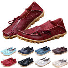 Women Leather Comfort Casual Walk Bowed Flat Shoes Loafers Moccasin Durable Well