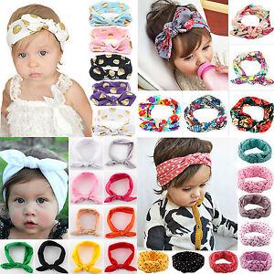 Baby-Kids-Girl-039-s-Bow-Headband-Hairband-Headwear-Bunny-Headdress-Hair-Accessories