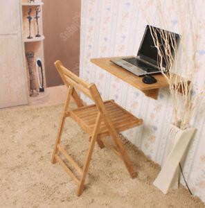 Detalles de SoBuy Mesa plegable de pared Mesa de cocina Mesa infantil de  Bambú FWT031-N,ES