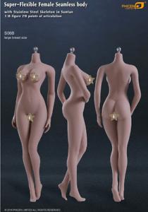 Phicen Limited Super-Flexible Female Seamless large Breast Body in Suntan S06B