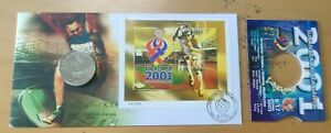 Sea Games MALAYSIA KL 2001 Sukan ASEAN 3v stamps set FDC cupper nickel Coin #2