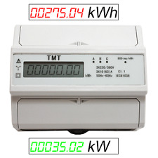 DREHSTROMZÄHLER STROMZÄHLER HUTSCHIENE WATTMETER STARKSTROM k.MID kW & kWh  ZS4