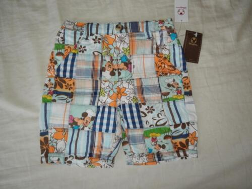NWT Size6-9 Months New Boy/'s Disney Store Quilted Plaid Shorts $16.50