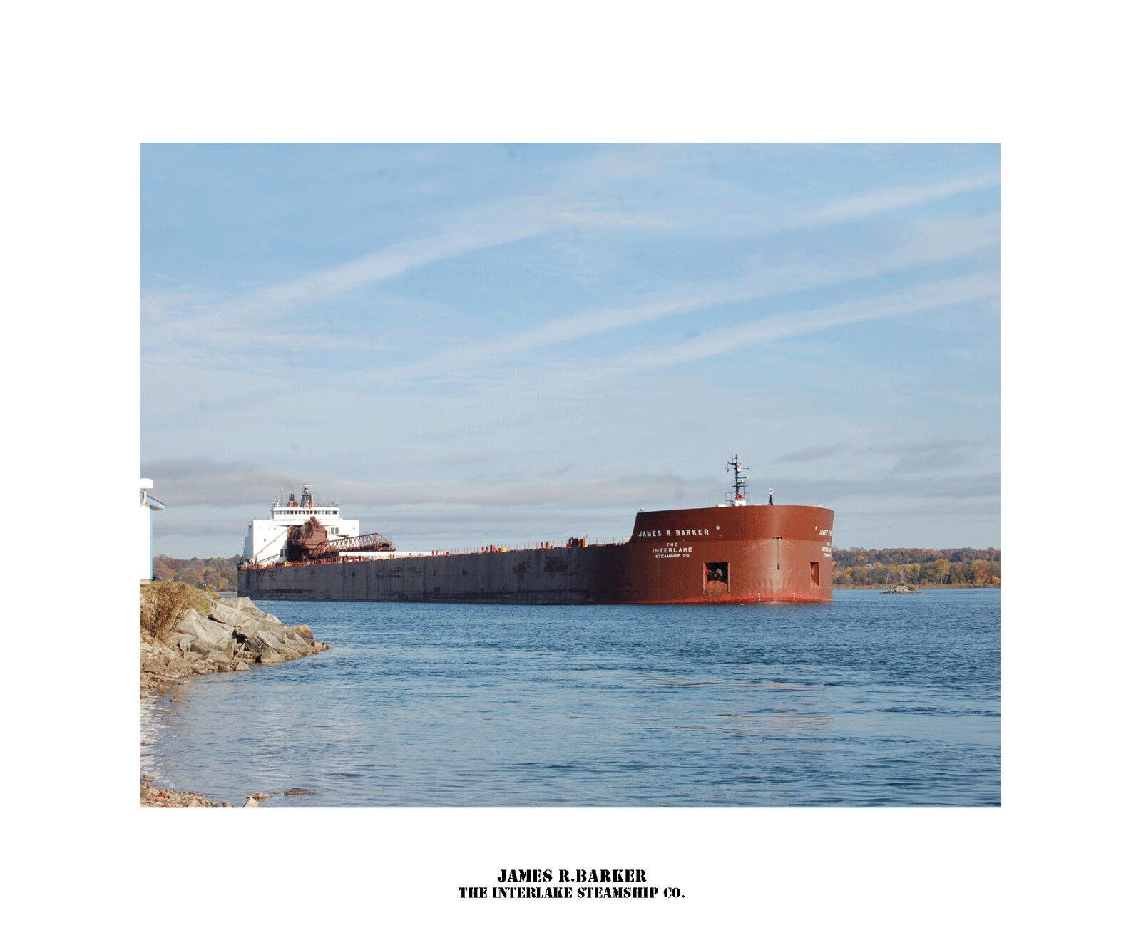 JAMES R.BARKER , Interlake Steamship Co. Photo Drucken