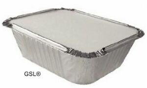 100-x-ALUMINIUM-FOIL-TAKEAWAY-FOOD-STORAGE-CONTAINERS-100-LIDS-No1