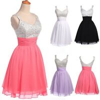 2016 New Sexy Short Homecoming Formal Bridesmaid Gown Evening Prom Party Dress