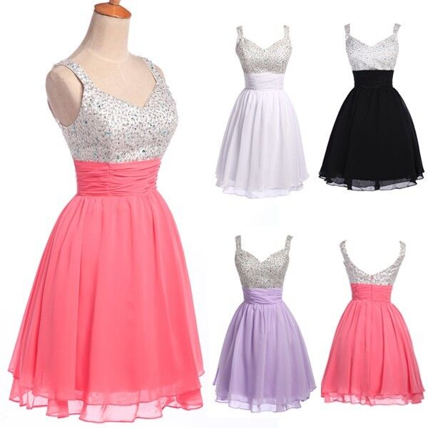 2013 Stock Party Short Dresses Homecoming Bridesmaid Cocktail Prom Evening Gowns