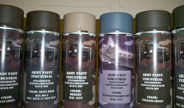 2 X Military Spray Paint Cans 400ml Military Spec Paint Industrial NATO / US