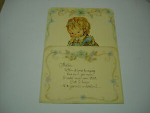 Hallmark-Charmers-Die-Cut-Pop-Up-Mother-039-s-Day-Greeting-Card-USA-VTG-Girl-Desk
