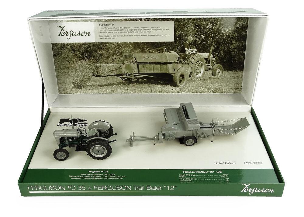 UH Ferguson TO35 Tracteur & F12 Botteleuse Limited Edition Box Set-échelle 1 32