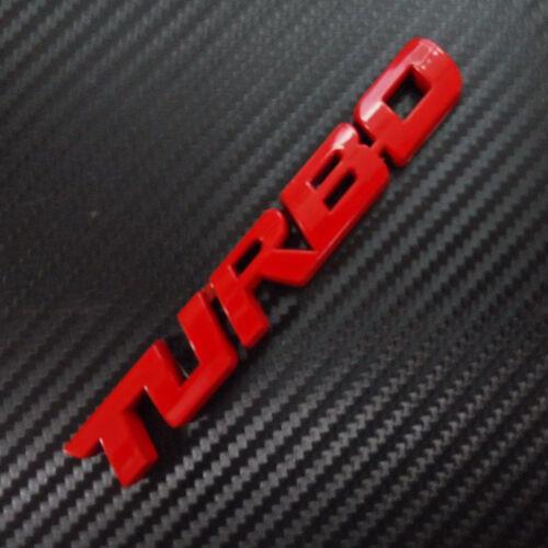 Car Badge Turbo 5/'/' Big RED Metal Chrome  for A CLASS A200 A260 Emblem Sticker
