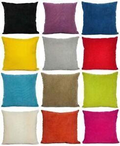 Cuscini-Plain-morbido-Ciniglia-cuscini-copertine-o-copre-10-colori-vivaci