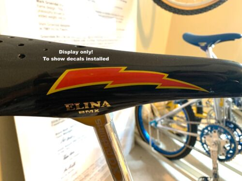 ELINA  BMX Seat Side Decals,1 pair Gold Rub-on decals