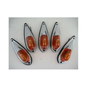 5-Amber-Cab-Roof-RV-Truck-Semi-Clearance-Marker-Lights