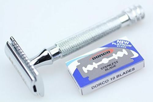 New Men's Stainless Steel Kings Good Quality Open Dual Edges Safety Razor Fs