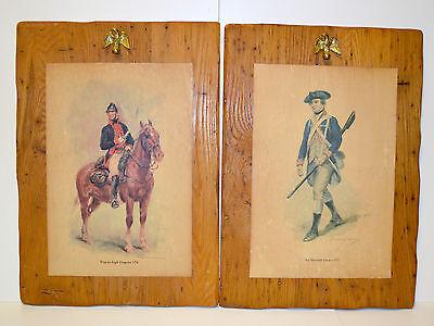 Vintage Raymond DESVARREUX-LARPENTEUR Prints on Rustic Wood Wall Art ...