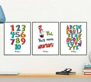 Dr Seuss Nursery Prints Decor
