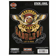 Original Harley Davidson HD Logo Saddle Up Cowboy Emblem Aufkleber Decal Sticker